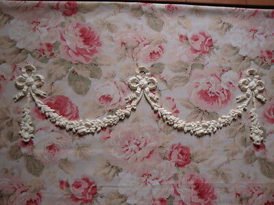 Shabby & Chic Bow Rose Floral Swag Drop Garland Furniture Applique Architectural