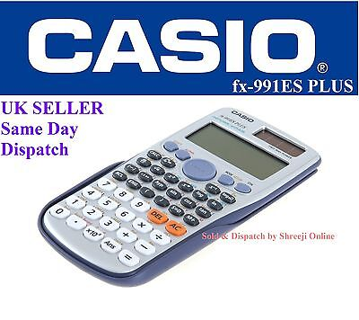 CASIO FX991ES PLUS SCIENTIFIC CALCULATOR For GCSE's & A Level Exam 417 Functions