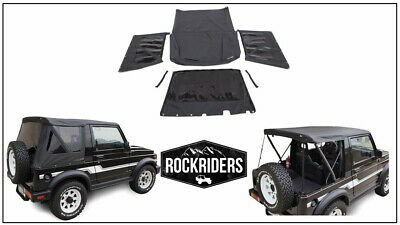 1986-1994 Suzuki Samurai Replacement Soft Top with Zip Out Tinted Rear Windows