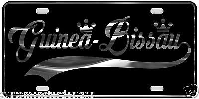 Guinea Bissau License Plate All Mirror Plate & Chrome and Regular Vinyl Choices