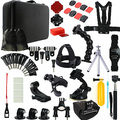 Go pro Monopod Accessories Kit Pack Case Chest For Gopro Hero 5 4 3 3+ 2 Camera