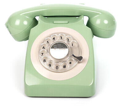 GPO 746 traditional rotary dialing telephone Green