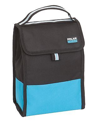 Polar Gear Folding Cool Bag | Coolbag | Lunch Bag | Packed Lunch | Black & Blue