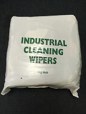 10KG Mixed Coloured Rag Cleaning Wipers Cloth Dusting Mechanics Garage Workshop