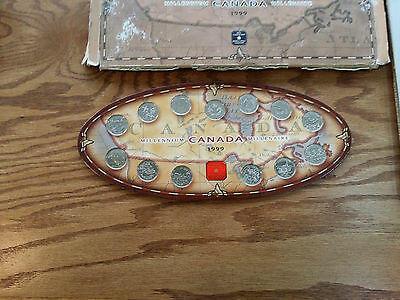Canada 1999 Millennium Set Of 25 Cents Coins - 1619