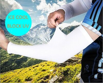 Compression Sports Arm Sleeve Ice Cooler Cool UV Sun Guard Protector Cycling