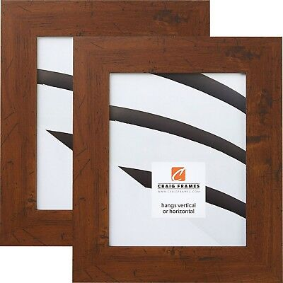 craig frames bauhaus 2 modern dark walnut brown picture frame 2 piece