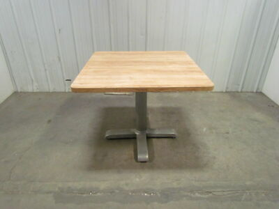 Vintage Aluminum Base Lunch Room Tables From A GM Plant