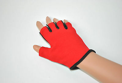 Red Pole Dancing Gloves with Tack Fitness Class Static Spinning Pole Grip Gloves