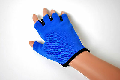 Blue Pole Dancing Tack Gloves Fitness Classes Static Spinning Pole Grip Gloves