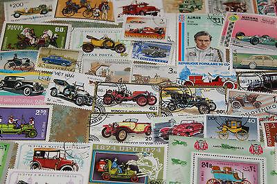 Bulk Lot Cars,trucks Themed Stamps X 50  Good Mix Free Postage In Oz