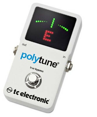 TC Electronic Polytune 2 Simultaneous String Chromatic Drop-D Guitar Tuner Pedal