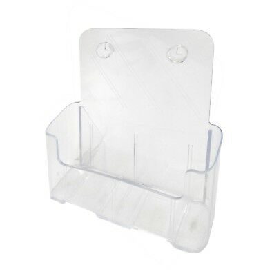 """1 Tier Leaflet Holder 8.5x11"""" Literature Holder Clear Acrylic Wall Mount14915"""