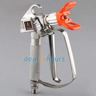 Airless Paint Spray Gun High Pressure 3600PSI + Tip Guard (No Tip) for Sprayes