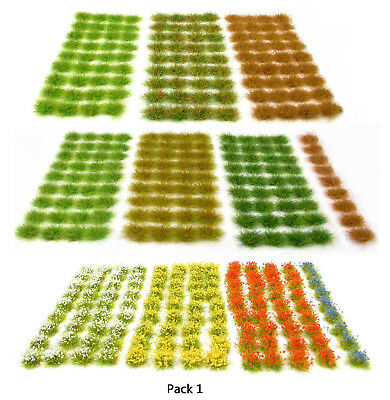 Discounted grass tuft packs - Self adhesive static Model scenery flock wargames