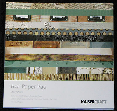 "Kaisercraft 'STORY BOOK' 6.5"" Paper Pad Heritage/Masculine/Vintage *NEW* KAISER"