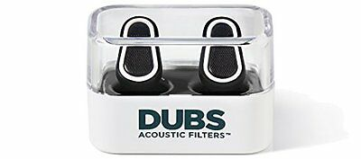 DUBS Acoustic Filters 12 dB Noise Reduction, Hearing Protection Ear Plugs -White