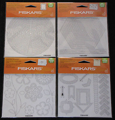 FISKARS 'PAPER PIERCING TEMPLATES/STENCILS' (You choose) Card Making *NEW*