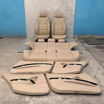 BMW 3 SERIES E90 Beige Leather Heated Interior Seats with Airbag and Door Cards