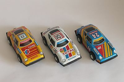 3 Blechauto Porsche TIN Friktion Cars MIB made in GDR / DDR