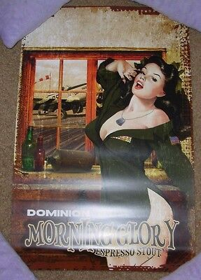 DOMINION Promo Poster print MORNING GLORY STOUT craft beer brewing brewery