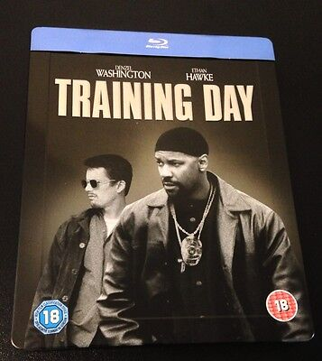TRAINING DAY Blu-Ray SteelBook Zavvi UK Exclusive Ultra Ltd Region Free OOP Rare