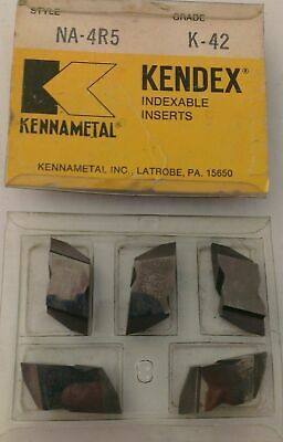 KENNAMETAL KENDEX NA-4R5 K-45 Lathe Carbide Indexable Inserts 5 Pcs Grooving New