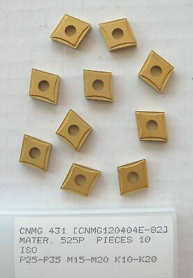 10 New CNMG 431 Carbide Inserts Turning Lathe Made by PRAMET (A SECO Company)