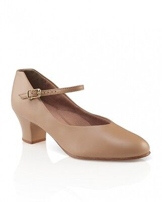 Capezio Women's 550 Jr. Footlight Character Shoe Tan Size 5.5N Narrow NIB