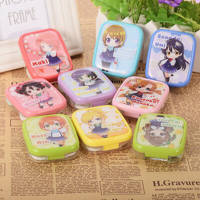 1pc Love Live Characters Contact Lens Box Case Japanese Anime Love Live Girls