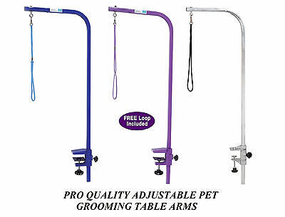 PRO Heavy Duty Groomer PET DOG CAT ARM&CLAMP&LOOP for GROOMING TABLE*ADJUSTABLE