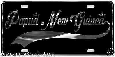 Papua New Guinea License Plate All Mirror Plate & Chrome and Regular Vinyl