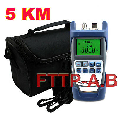Latest All-in-One Fiber Optical Power Meter & 1-5km 1mW Visual Fault Locator+Bag