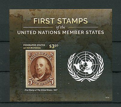 Micronesia 2015 MNH First Stamps UN United Nations Member States 1v S/S USA