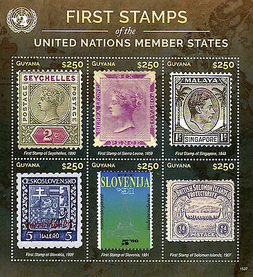 Guyana 2015 MNH First Stamps UN United Nations Member States 6v M/S V