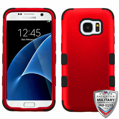 For Samsung GALAXY S7 Hybrid Rugged Shockproof Protective Case Cover Hard BLACK