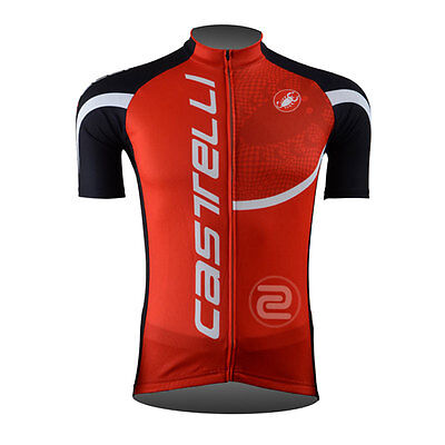 New Classic Mens Cycling Gear Bicycle Short Sleeve Jersey Polyester Riding Tops
