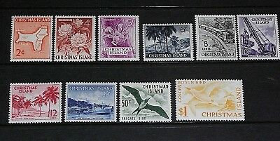 Christmas Island 1963 Pictorials Set Of 10 Very Fine M/l/h