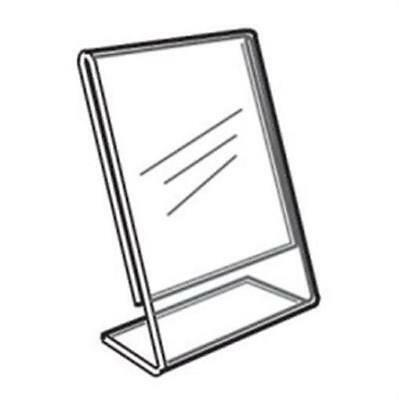 Acrylic Slanted Counter Sign Photo Display Holder Stand 8 x 10