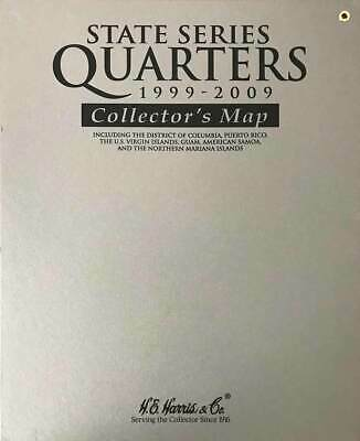 Us State Series Quarters Coin Collectors Display Wall Map New Gift - Us-map-for-quarters