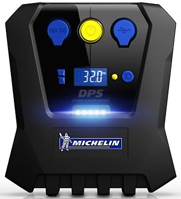 Michelin Digital Air Compressor & Pre-Set Rapid Tyre Inflator USB & Bag #12266