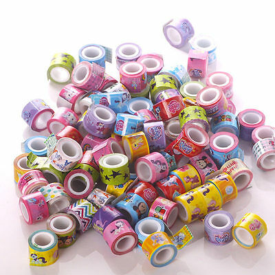 15 Rolls Mixed Lovely Deco Cute Cartoon Tape Scrapbooking Adhesive DIY Sticker