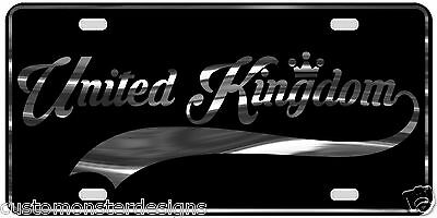 United Kingdom License Plate All Mirror Plate & Chrome and Regular Vinyl Choices