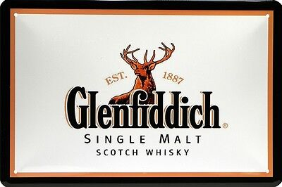 Glenfiddich Scotch Whisky Whiskey Blechschild 20 x 30 Retro Blech 678