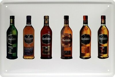 Glenfiddich Bottles Scotch Whisky Whiskey Blechschild 20 x 30 Retro Blech 721