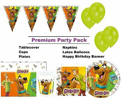 Scooby Doo | Fred 8-48 Guest Premium Party Pack - Tableware | Banner | Balloons