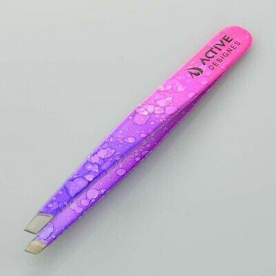 Professional Eyebrow Stainless Steel Tweezers Slant Hair Beauty Tweezer 3.5''