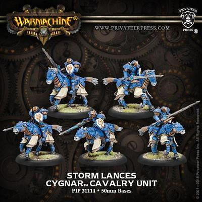 Warmachine Cygnar Storm Lances Knight Cavalry Unit Box (5) PIP 31114