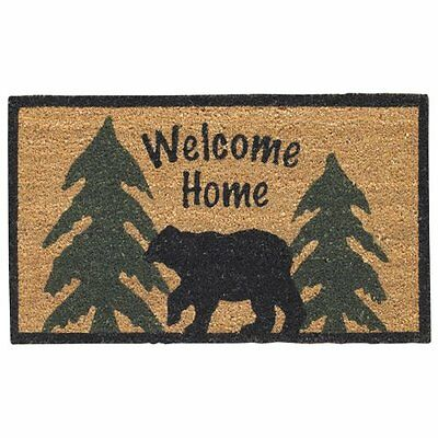 Park Designs Welcome Home Black Bear Doormat, New, Free Shipping