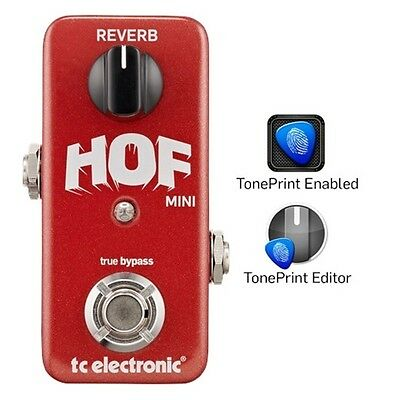 TC Electronic HOF Hall of Fame Reverb Mini TonePrint Guitar Effects Pedal